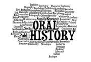 Oral History word cloud