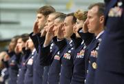 Uniforms saluting