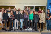Bosnian students visiting WSU