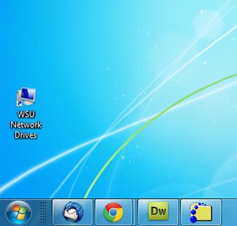 screen capture of the shortcut on desktop